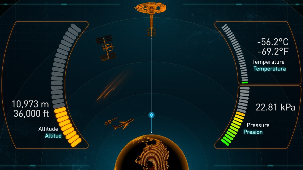 International Space Elevator NAV SCREEN